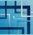 abstract blue gradient geometric square vector image vector image