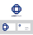 abstract modern emblem design element can be used vector image vector image