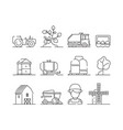 agricultural icon industrial farming machine vector image vector image