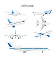 airplane set on white vector image vector image