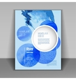 booklet with blue watercolor spots vector image vector image