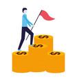 businessman success business vector image vector image