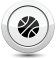 Button with Basketball sport icon vector image vector image