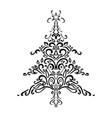 christmas element christmas tree ornament vector image vector image