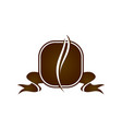 coffee cafe logo design template vector image