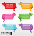 Collection of origami speech bubble EPS 10 vector image vector image