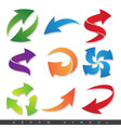 colorful arrow symbol vector image vector image