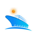 cruise ship vacation isolated icon vector image