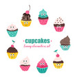 cupcakes collection vector image vector image