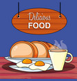 delicious food menu icons vector image vector image