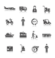 Delivery Icons Black vector image vector image
