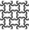 Design seamless uncolored twirl movement pattern vector image