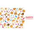 dessert sweets candy background vector image vector image