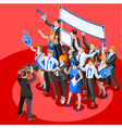Election News Infographic Party Rally Isometric vector image vector image