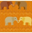 Elephants in love seamless pattern vector image
