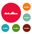 equalizer icons circle set vector image vector image