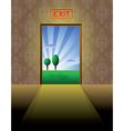 exit vector image vector image