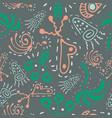 fantasy hand-drawn seamless pattern vector image vector image