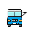 fast food truck festival car flat color line icon vector image