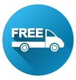 Free Delivery Gradient Round Icon vector image