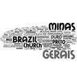 gerais word cloud concept vector image vector image