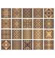 golden tiles collection vector image vector image