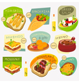 greek food labels vector image