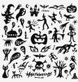 halloween doodles set vector image vector image