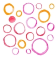 Hand draw watercolor rings circle round stains art vector image vector image