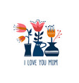 happy mother day greeting card of spring flowers vector image vector image