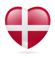Heart icon of Denmark vector image vector image