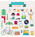 hipster style elements and icons set for retro vector image