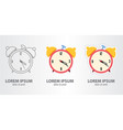 icon of thealarm clock vector image