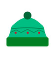isolated winter hat icon vector image vector image