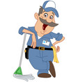 janitor vector image vector image
