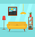 Living room concept background flat style