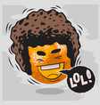 lol lots of laughs with laughing orange with afro vector image