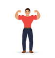 men bodybuilder isolated on white background vector image vector image