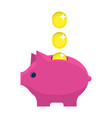 money box flat icon vector image