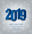 new year card with numbers in blue design vector image