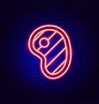 pork neon sign vector image