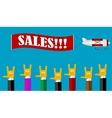 Retro sales banner vector image vector image