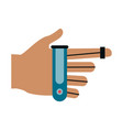 robot hand technology vector image vector image