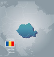 romania information map vector image vector image