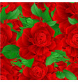 seamless texture stem flower red rose and leaves vector image vector image