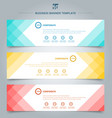 set of banner web templates geometric header vector image