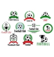 Set of football club badges and emblems vector image vector image