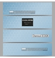 Set of modern banners Chemistry pattern vector image vector image