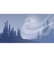 Snowfall with Wind vector image vector image