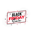 stylish black friday sale background vector image